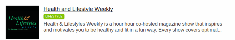 Health and Lifestyle Weekly